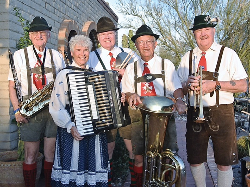The Bouncing Czechs will provide lively entertainment during Oktoberfest.