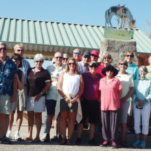 Cool Car Club members visit the Tom Mix Memorial on October 5.