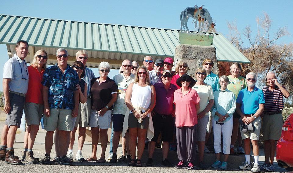 Cool Car Club members visit the Tom Mix Memorial on October 5.