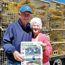 Lobsters and more lobsters were on the menu for Tom and Darthea Tilley visiting Bar Harbor, Maine.