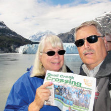 Paul and Gail Lischeid loved the sunny May weather in Alaska and visited Glacier Bay.