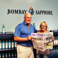 Lin and Steve Sanford vacationed in Hampshire, England and visited the famed Bombay Sapphire Distillery at historic Laverstoke Mill.