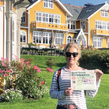 Quail Creek editor Linda Robson at the iconic Norweigan resort, Solstrand Hotel and Spa in Bergen.