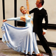 Kathi Bobillot with her professional partner dancing at the Tucson Expo last month.