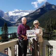 Elaine and Dick Walker took their copy of the Crossing on vacation to Lake Louise and Banff, Canada.