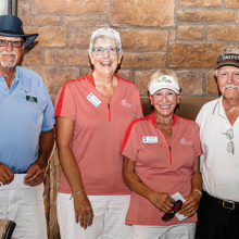Left to right: Jerry Olsen, Janet Wegner, Diane Dodd, and Smitty Smith were on the second place team in the Putters/Duffers competition. Photo by Jim Burkstrand.
