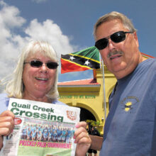"Paul and Gail Lischeid enjoyed ""lots of sun and too much food"" on their Eastern Caribbean excursion."