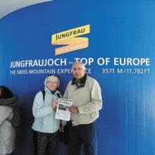 The Fero's and the Crossing made it to the top of Europe in Jungfraujoch, Switzerland.