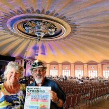 David Friel and Deb Melton at the Avalon Ballroom on Catalina Island.