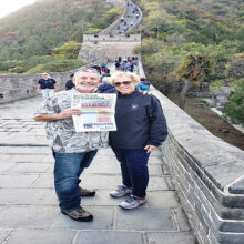 Ray Rosenbach and Sue Duffenberg visiting the Great Wall.
