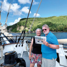 Steve and Barbara Ware sailing on a Windjammer to the Grenadines and French West Indies.