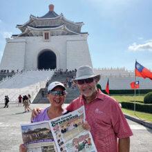Chris and Gary Moravchik visiting Chiang Kai-Shek Memorial Hall – Taiwan.