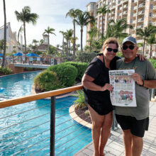 Cathy and Mike Sable enjoyed fall weather in Aruba.