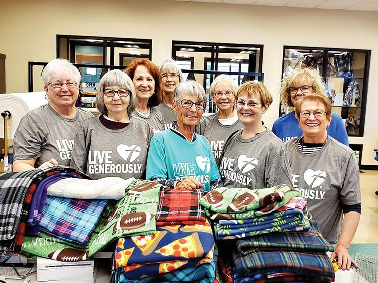 Fleece Blanket Party participants.