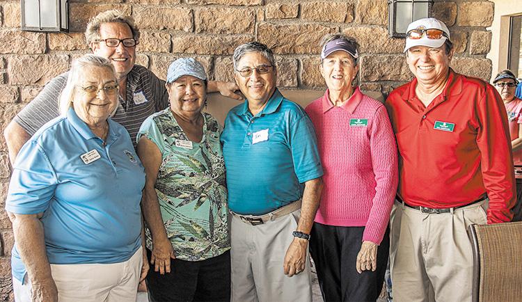 Left to right: Sylvia Butler, Grady Miller, Gloria Contreras, Tom Contreras, Carol Sheppard, and Bill Sheppard.