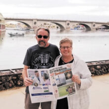 Randy and Mary Vols visit the London Bridge in Lake Havasu City, AZ.