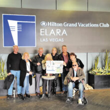 The Huber's, Hasson's, Bradley's and Duvall's were treated to luxury at the Hilton Grand in Las Vegas recently.