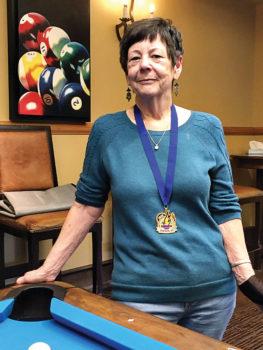 Kay Mertes, billiards Gold Medal winner at the Senior Games.