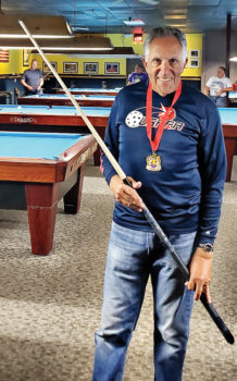Lenny Friedman, billiards Silver Medal winner at the Senior Games.