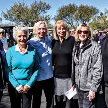 From left to right: Chris Gould, Past President; Peg Avent, Vice President; Jacquie Owens, President; Deb Riddell, Tournament Director; Sandi Hrvotin, Treasurer; and Dian Simmons, Secretary.