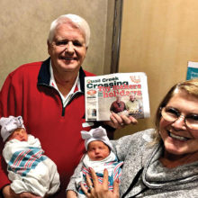 The Beechers have two new blessings and future Quail Creek visitors--twins, Avery and Riley.