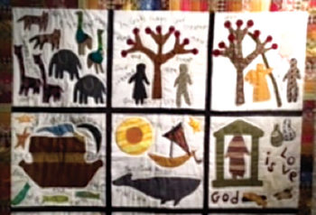 Bible Quilt created by Ugandan women