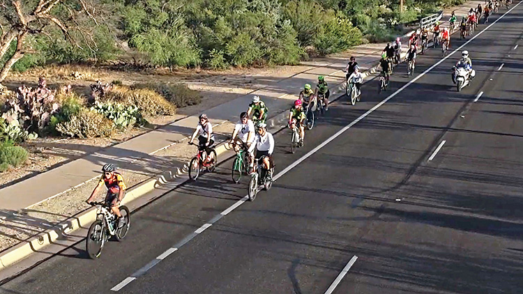 Friends of Mason Taylor join the 2019 Ride of Silence.
