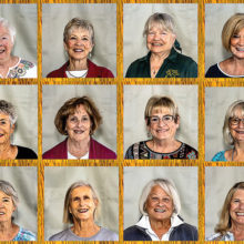 The interview team (left to right), top row: Clarice Sullivan, Jeri Collins, Suzan Bryceland, and Margot Elsner; middle row: Patty Zatkin, Jean Hewitt, Lisa Stilson, and Patricia Fina-Weaver; bottom row: Peggy McGee, Joanna Miller, Marilyn Beim, and Sandi Beecher