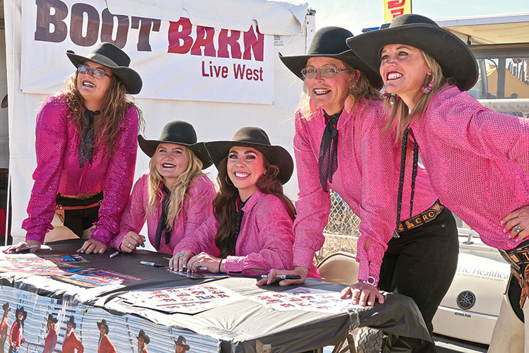 Third place (tie): Tucson Rodeo Flag Team 2020 (Photo by Steve Peipmeier)