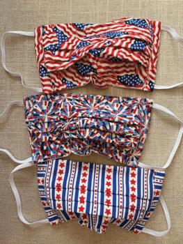 Patriotic patterned masks (Photo by Jadine Hilt)