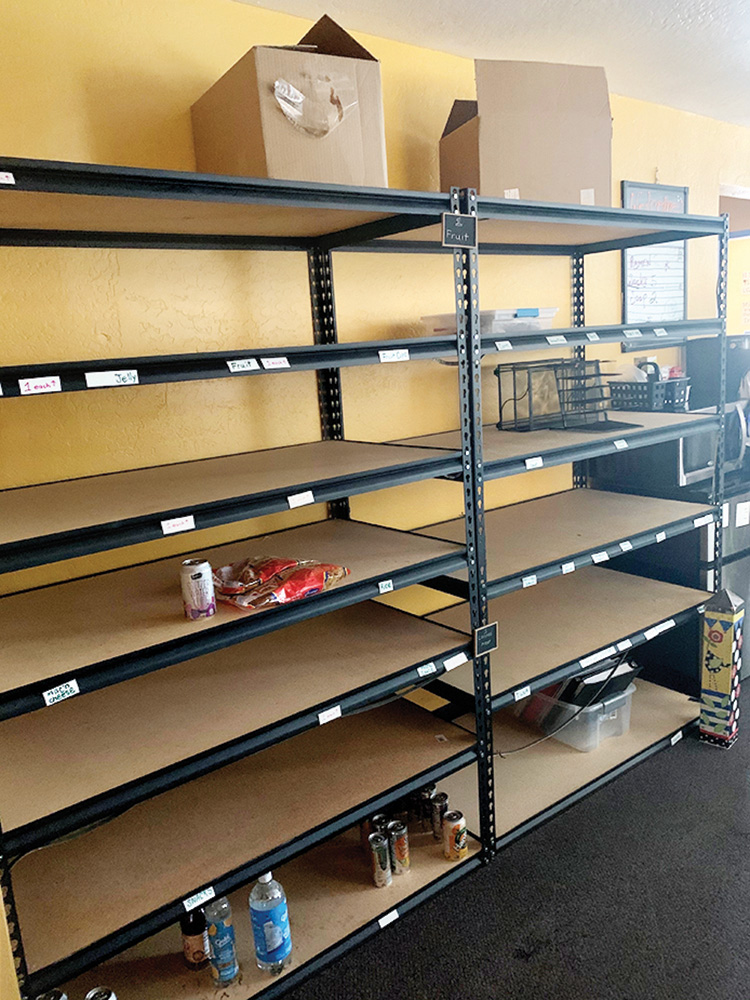 Over the last few months, the inventory at the Mini Mall is depleted and little is left. Your donation of just two cans of food can help putfood on the shelves at the YOTO Mini Mart!