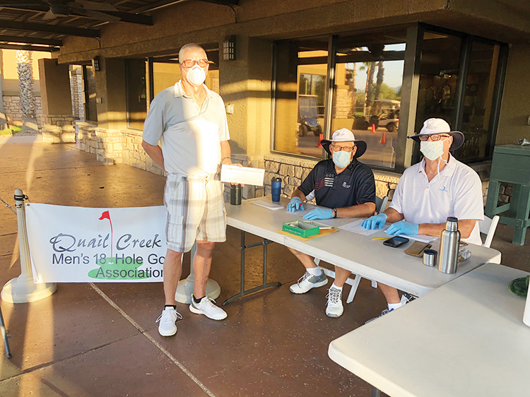 QCMGA member, Bill Chapman, registering with Clay Harris and Martin Wibbenhorst for the first event on July 7.