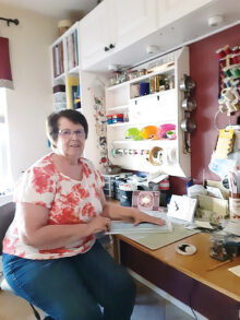 Terrie O'Dierno created almost 100 cards that were delivered to the various care facilities in Green Valley.