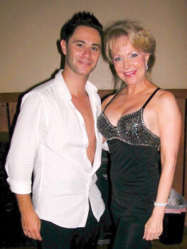Kathi, pictured with Sasha Farber from Dancing with the Stars.