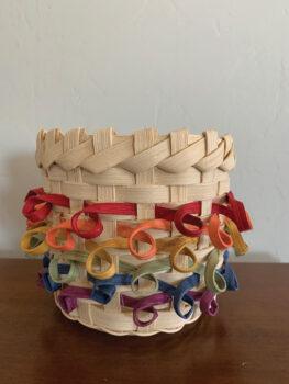 Becky Ashin's ribbon basket.