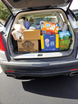 A well-loaded car. (Photo by Peggy McGee)
