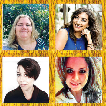WIT awardees top row (left to right): April Escarcega and Marisa Acosta. Bottom row (left to right): Jasmine Spear and Harley Plasencio (Photo by Jim Burkstrand)