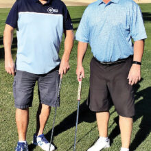 The winners of the recent QCMGA's annual Club Championship were Sean Comfort (left) and Robin Barnes (right). The three-day tournament was a four-ball stroke play where the best net ball of either team member on a hole counted toward their final team score. Sean and Robin shot a three-day score of 200, which allowed them to finish first among 54 teams in the competition. Congratulations Sean and Robin!