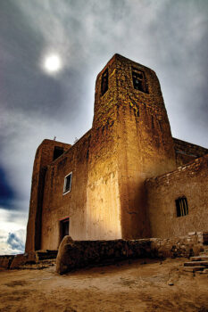 Larry Hudson won first place with his photo Church Acoma.