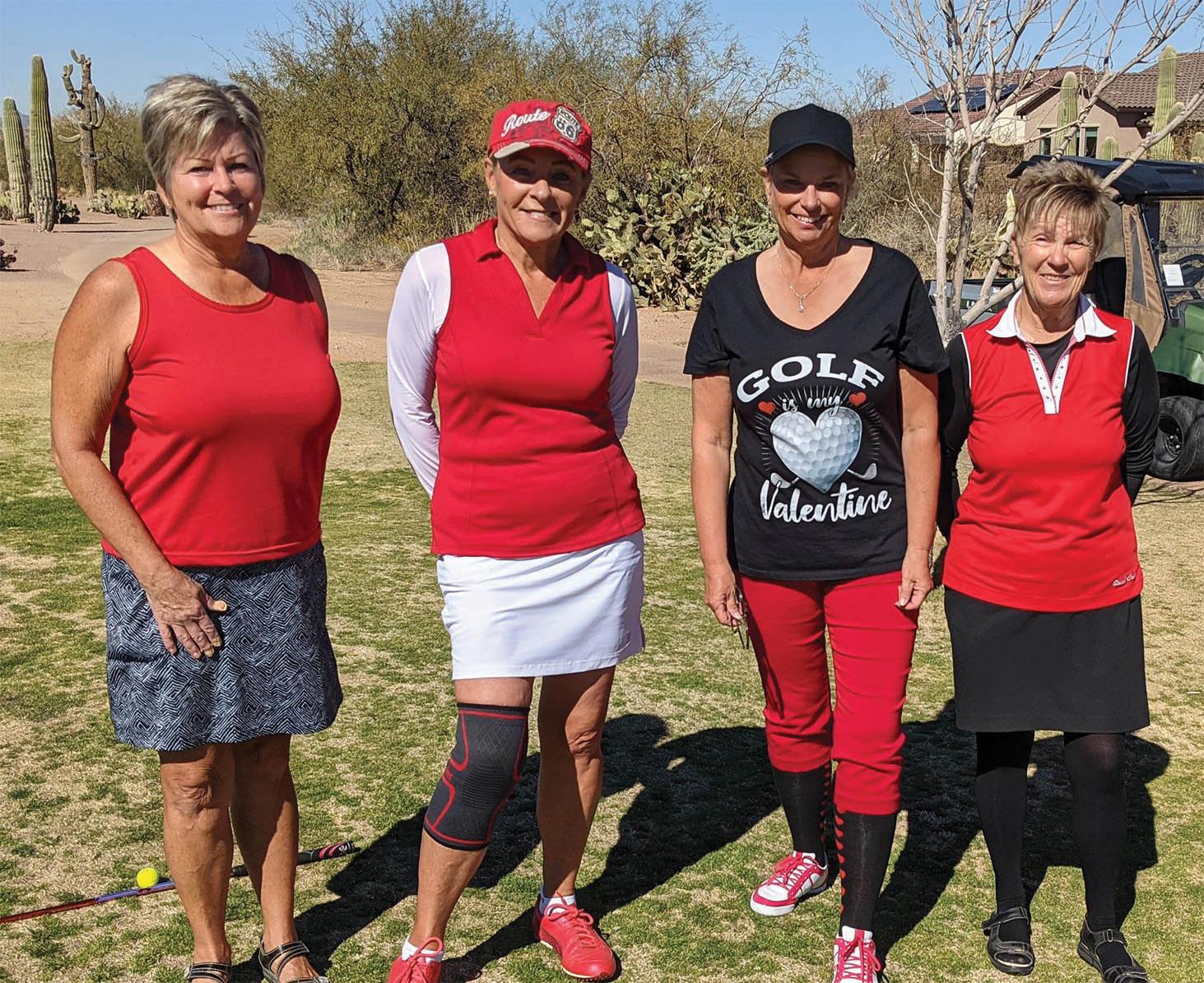 Kate Schwartz, Janet Johnson, Debbie Riddell, and Karen Stensrud