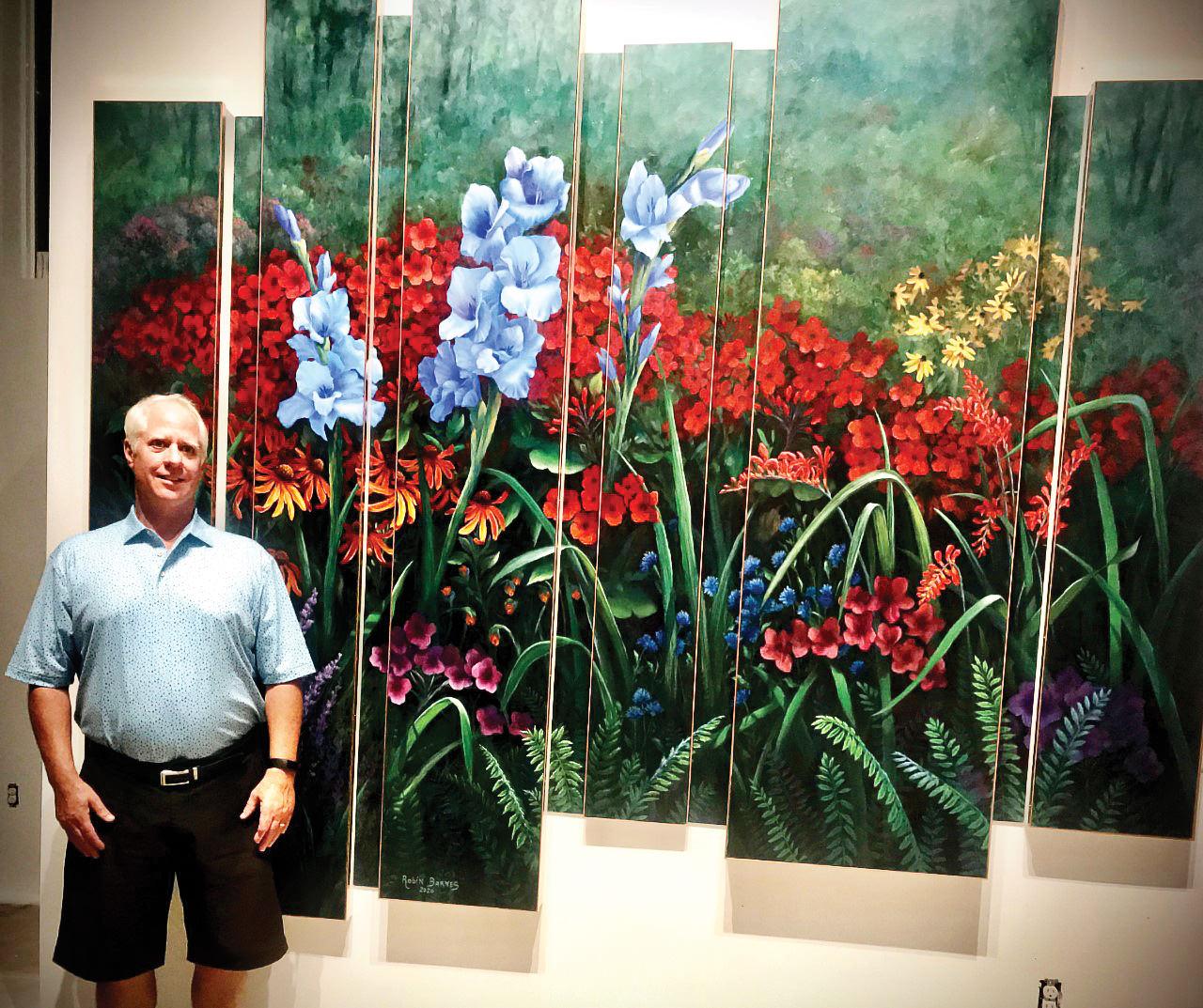 Robin Barns and paintings