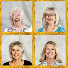 Left to right, top to bottom: Clarice Sullivan, Patricia Fina Weaver, Patty Zatkin, and Sandi Beecher