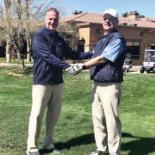 Golf Pro Joel Jaress and Ray Mang
