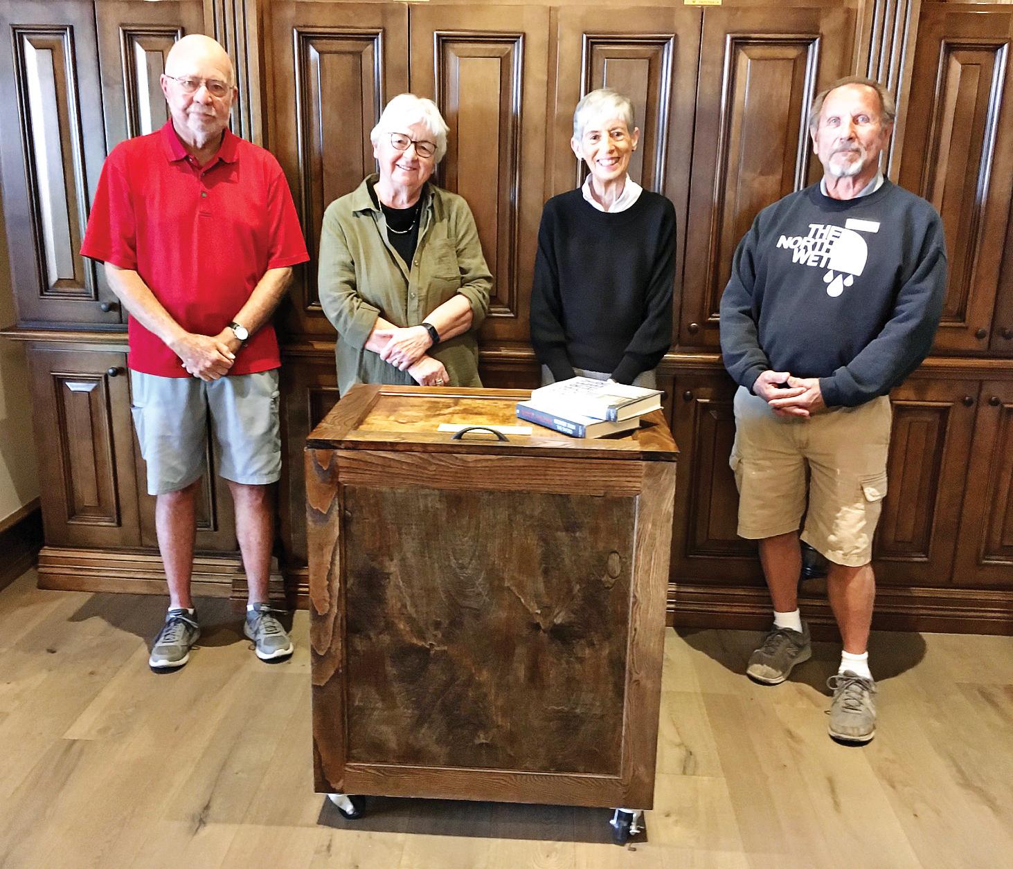 Left to right: Phil Geddes, Joan Stoddart, Susan Warburton, and Gary Nieberger