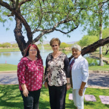 Nikole Haumont, Cheryl Anthony, and Yasmin John-Thorpe